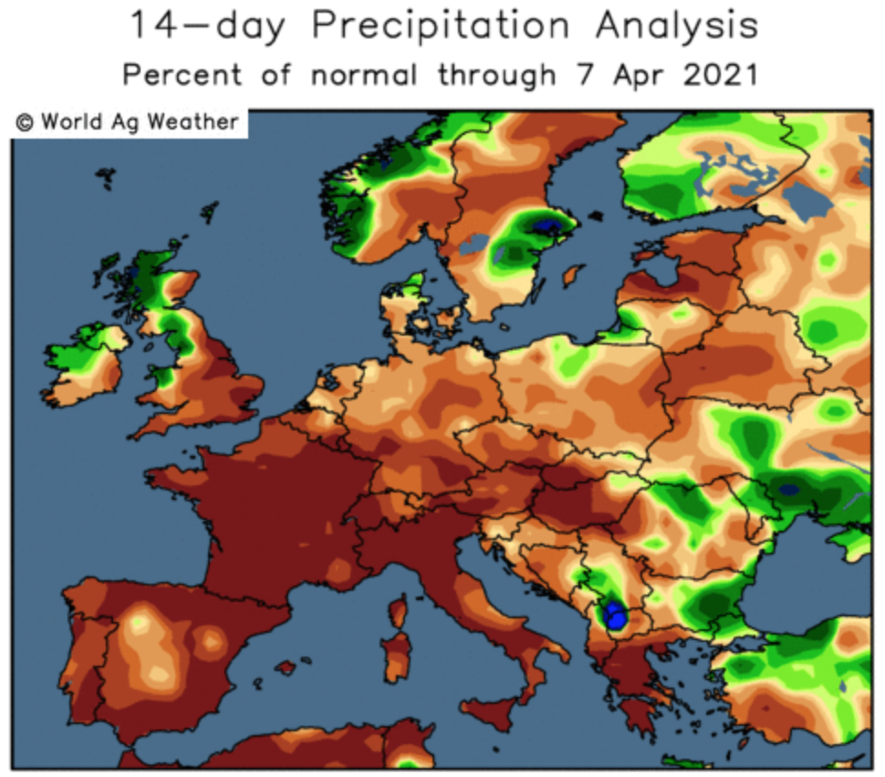 ODA market alert: Weather market has finally started with a supportive impact on prices.